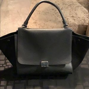 Authentic black Celine trapeze bag
